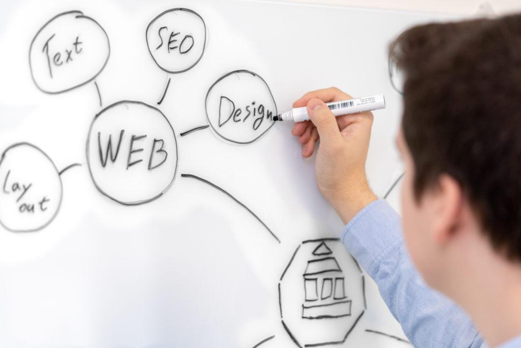 whiteboard web design